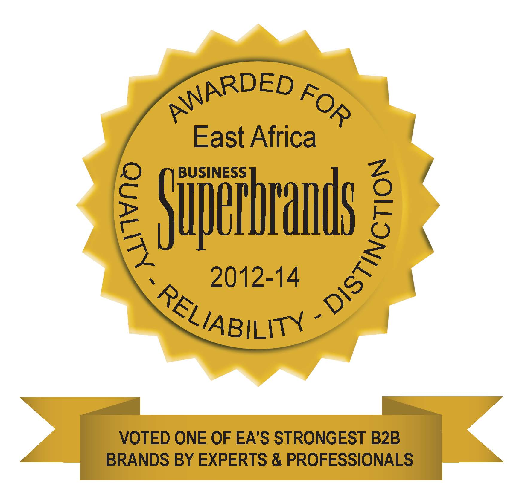 EAC Superbrands 2012-2014 Certificate